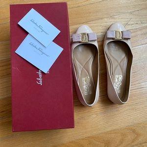 Salvatore Ferragamo Varina Patent Ballets Flats
